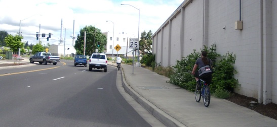 Two ways of approaching Broadway and Hilyard in Eugene