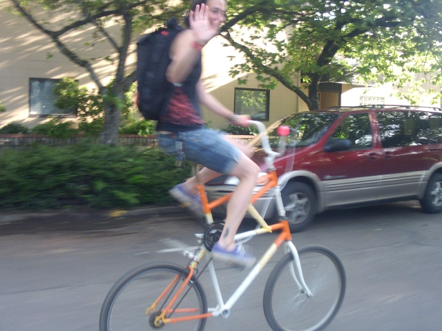 Riding a freak bike in Eugene Oregon